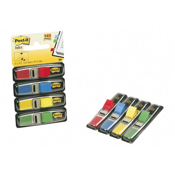 Segnapagina Post it® Index Mini - 12x43,2 mm - 4 colori classici - Post it® - conf. 140 pezzi Foto prodotto