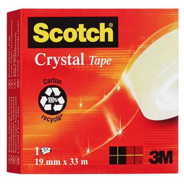 Nastro adesivo Scotch® Crystal 600 - 33 mt x 19 mm - trasparente - Scotch® Foto prodotto