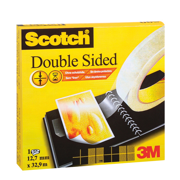 Nastro biadesivo Scotch® - permanente - senza liner - 33 m x 12 mm - trasparente - Scotch® Foto prodotto