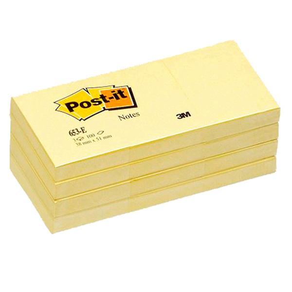 Blocco foglietti - giallo Canary™ - 38 x 51 mm - 100 fogli - Post it® Foto prodotto