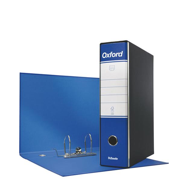 Registratore Oxford G85 - dorso 8 cm - protocollo 23 x 33 cm - blu - Esselte Foto prodotto