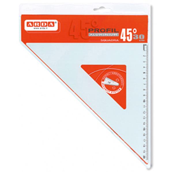 Squadra linea Profil - alluminio - 45 gradi - 30 cm - Arda Foto prodotto