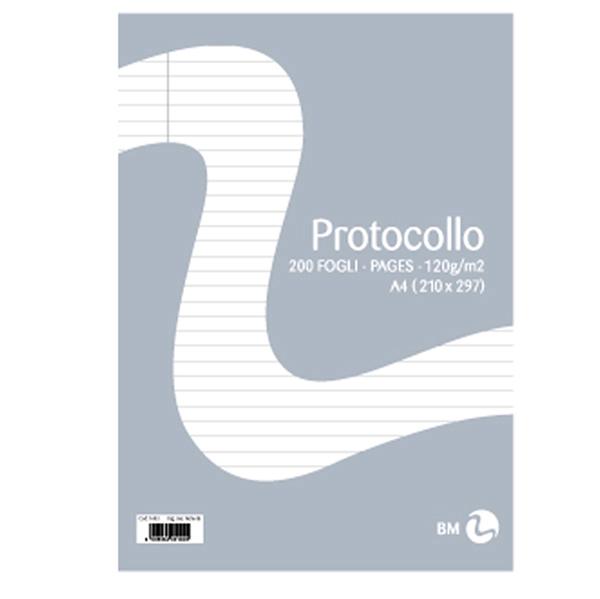 Fogli protocollo - A4 - uso bollo - 20 fogli - 60 gr - BM Foto prodotto