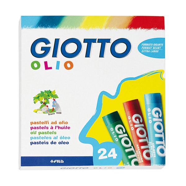 Pastelli a olio - lunghezza 75 mm - Ø 11 mm - astuccio 24 colori assortiti - Giotto Foto prodotto