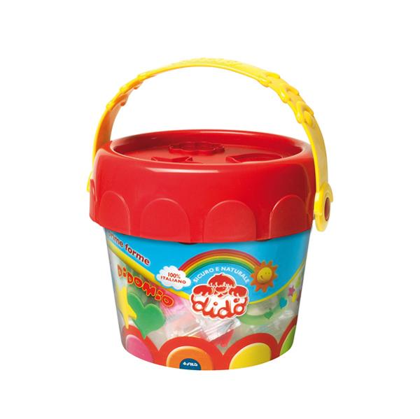 Pasta modellabile DiDò medio - DiDò - secchiello 6 salsicciotti con attrezzi Foto prodotto