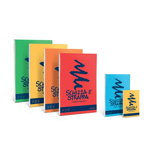 Blocco Schizza & Strappa - A4 - 210 x 297mm - 50gr - 150 fogli - Favini Foto prodotto