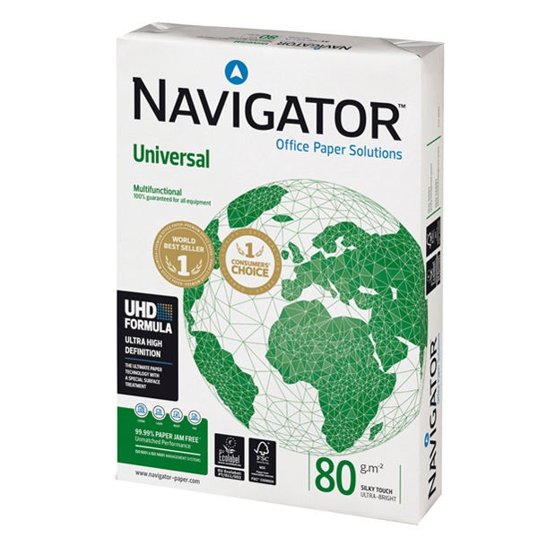 Carta Universal 80 - A4 - 80 gr - bianco - Navigator - conf. 500 fogli Foto prodotto