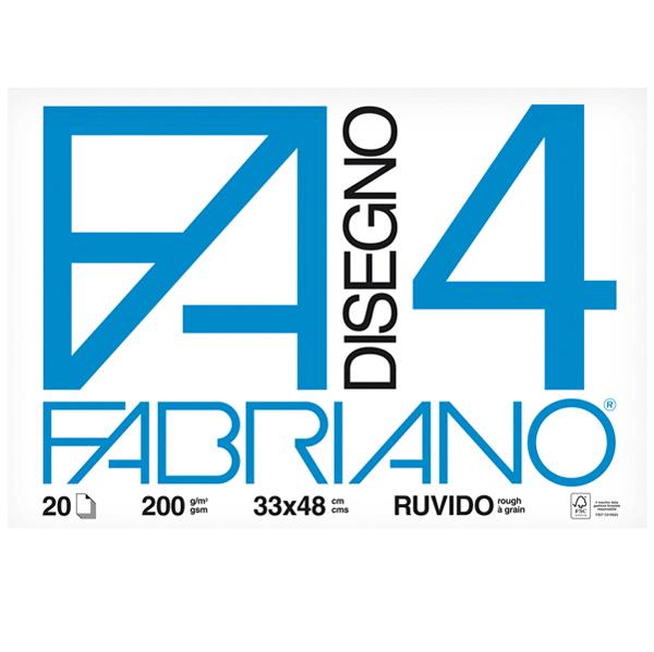 Album F4 - 33 x 48 cm - 220 gr - 20 fogli - ruvido - Fabriano Foto prodotto