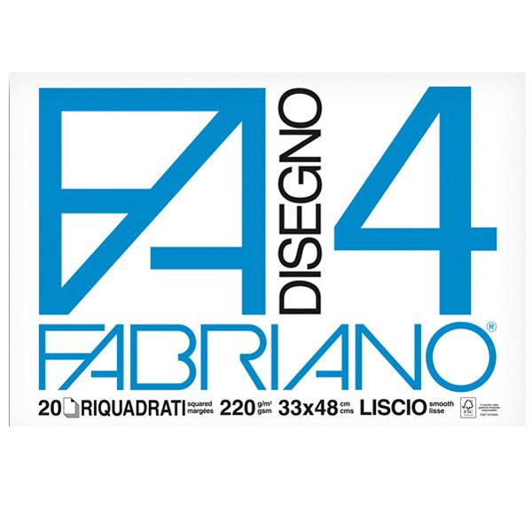 Album F4 - 33 x 48 cm - 220 gr - 20 fogli - liscio squadrato - Fabriano Foto prodotto