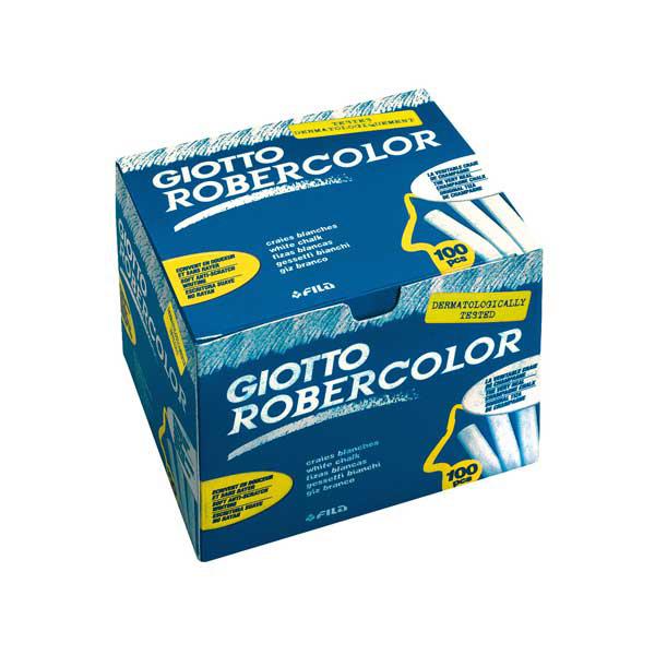 Gessetti tondi Robercolor - lunghezza 80 mm - Ø 10 mm - bianco - scatola 100 pezzi - Giotto Foto prodotto