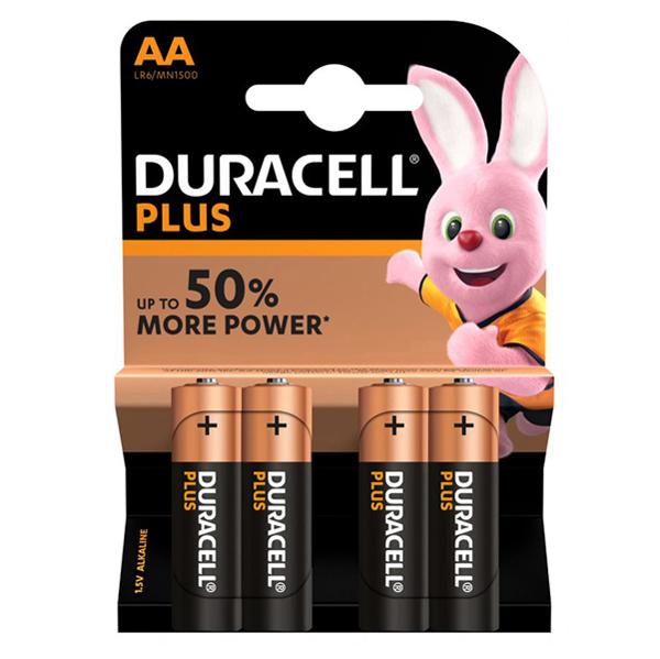 Pile Stilo AA Plus - MN1500 - AA stilo - Duracell - blister 4 pezzi Foto prodotto