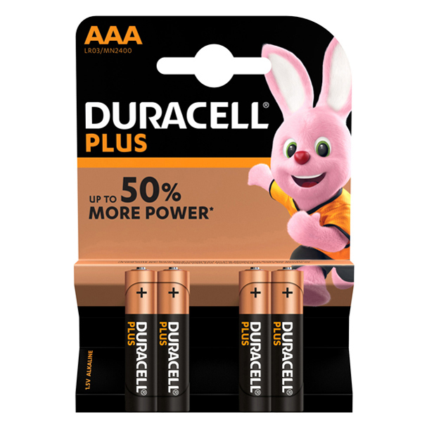 Pile Mini Stilo AAA Plus MN2400 - Duracell - blister 4 pezzi Foto prodotto