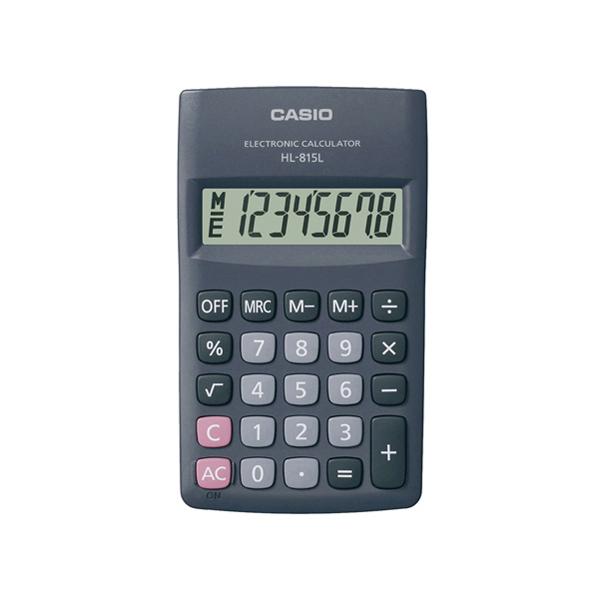Calcolatrice tascabile HL - 815L BL - 8 cifre - grigio - Casio Foto prodotto