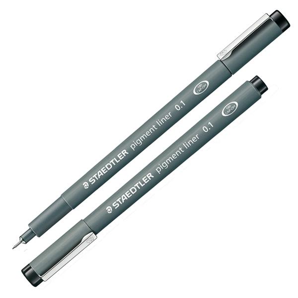 Pennarello Pigment Liner 308 - nero - 0,1 mm - Staedtler Foto prodotto