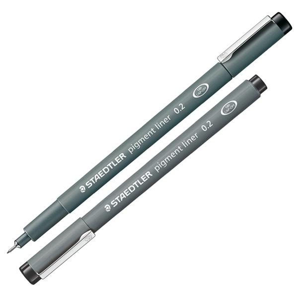 Pennarello Pigment Liner 308 - nero - 0,2 mm - Staedtler Foto prodotto