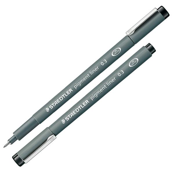 Pennarello Pigment Liner 308 - nero - 0,3 mm - Staedtler Foto prodotto