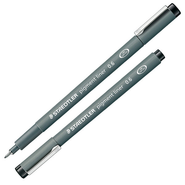 Pennarello Pigment Liner 308 - nero - 0,6 mm - Staedtler Foto prodotto