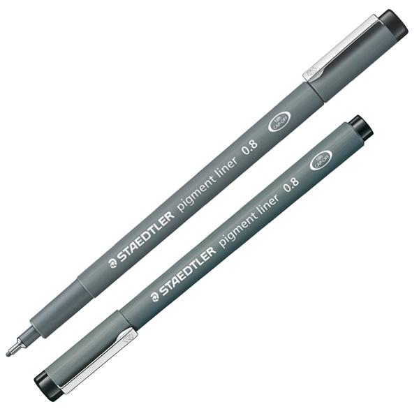 Pennarello Pigment Liner 308 - nero - 0,8 mm - Staedtler Foto prodotto