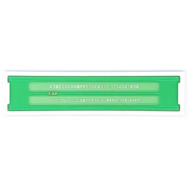 Normografo lettere e cifre - 3,5 mm - verde - Arda Foto prodotto