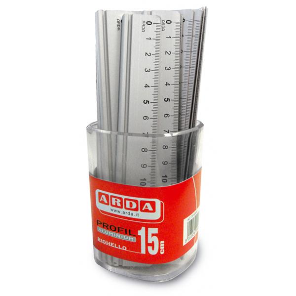 Righello 15 cm - alluminio - Arda Foto prodotto