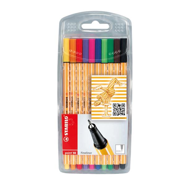 Fineliner Point 88 -  colori assortiti - Stabilo - astuccio 10 colori Foto prodotto