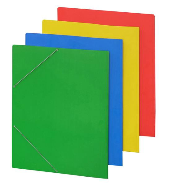 Cartellina con elastico - cartone plastificato - 50x70 cm - rosso - Cartotecnica del Garda Foto prodotto