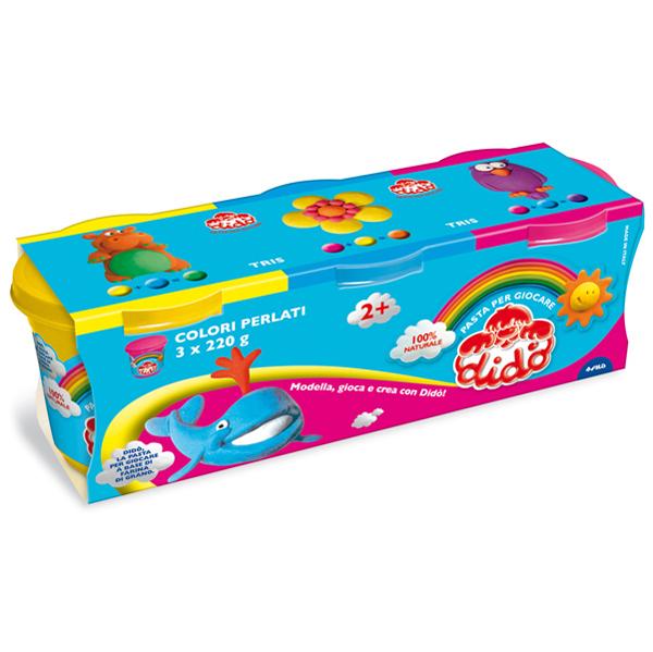 Tris barattoli da 220 gr - giallo/rosso/azzurro - DiDò Foto prodotto