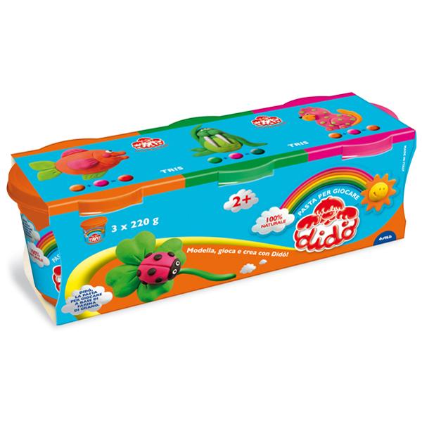 Tris barattoli da 220 gr - verde/arancio/magenta - DiDò Foto prodotto