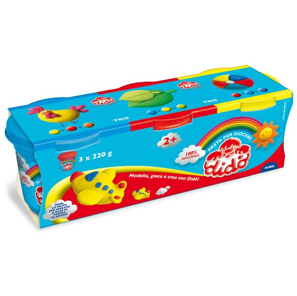 Tris barattoli da 220 gr - giallo/magenta/blu - DiDò Foto prodotto