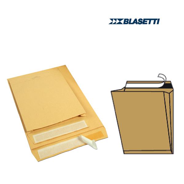 Busta a sacco - serie Mailpack - 300 x 400 x 40 mm - conf. 10 pezzi - 80 gr - avana - Blasetti Foto prodotto
