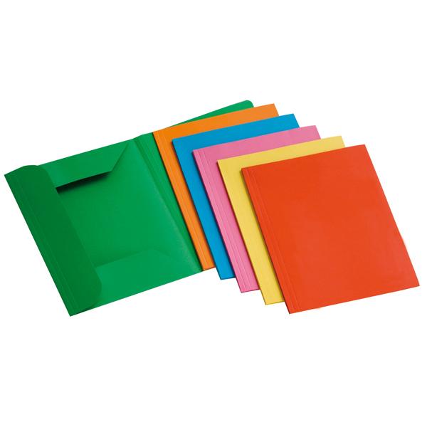 Cartelline 3 lembi - 200 gr - 25 x 33 cm - mix 6 colori - conf. 12 pezzi - Brefiocart Foto prodotto