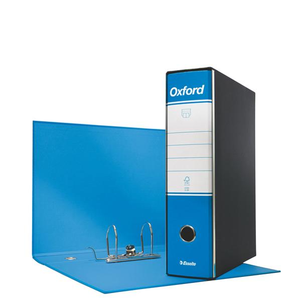 Registratore Oxford G85 - dorso 8 cm - protocollo 23 x 33 cm - azzurro - Esselte Foto prodotto