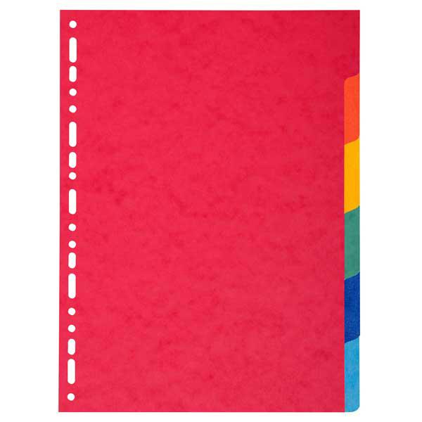 Separatore Forever - 6 tacche - cartoncino riciclato 220 gr - A4 - multicolore - Exacompta Foto prodotto