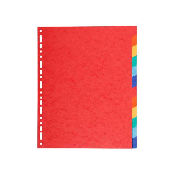 Separatore Forever - 12 tacche - cartoncino riciclato 220 gr - A4 maxi - multicolore - Exacompta Foto prodotto