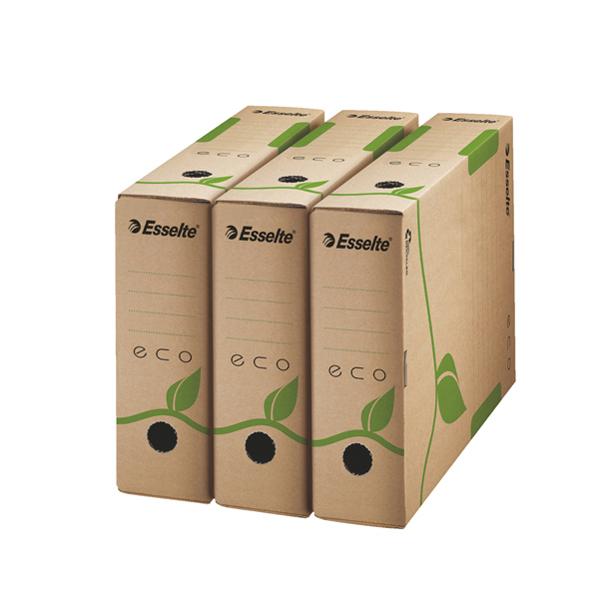 Scatola archivio EcoBox - 32,7 x 23,3 x 8 cm - ocra - Esselte Foto prodotto