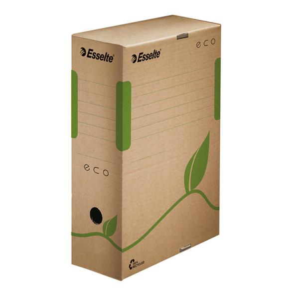 Scatola archivio EcoBox - 32,7 x 23,3 x 10 cm - ocra - Esselte Foto prodotto