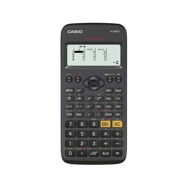 Calcolatrice scientifica FX-82EX - 77 x 165,5 x 13,8 mm - 274 funzioni - nero - Casio Foto prodotto