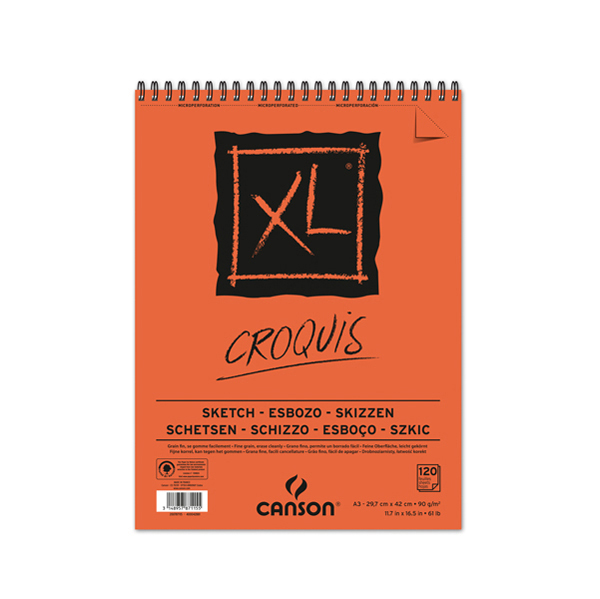 Album XL Croquis - A3 - 90 gr - 120 fogli - Canson Foto prodotto
