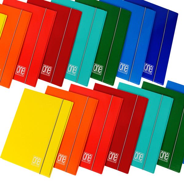 Cartellina One Color - 26x35cm - 3 lembi - con elastico - Blasetti Foto prodotto