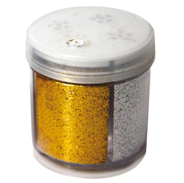 Glitter dispenser grana fine - 40 ml - barattolo dispenser - 4 colori assortiti - CWR Foto prodotto