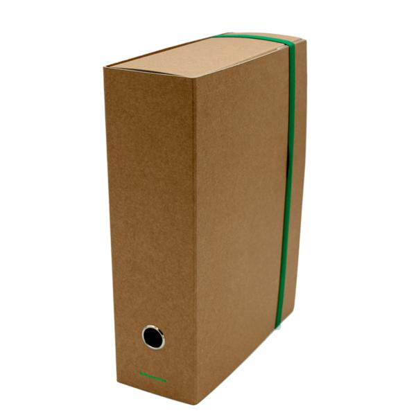 Scatola progetto personalizzabile -  con elastico - 25 x 35 cm -  anello nichelato - dorso 10 cm - avana - Starline Foto prodotto