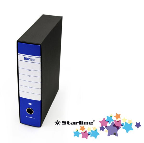 Registratore Starbox sfuso - dorso 8 cm - protocollo 23 x 33 cm - blu - Starline Foto prodotto
