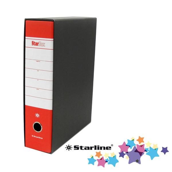 Registratore Starbox sfuso - dorso 8 cm - protocollo 23 x 33 cm - rosso - Starline Foto prodotto