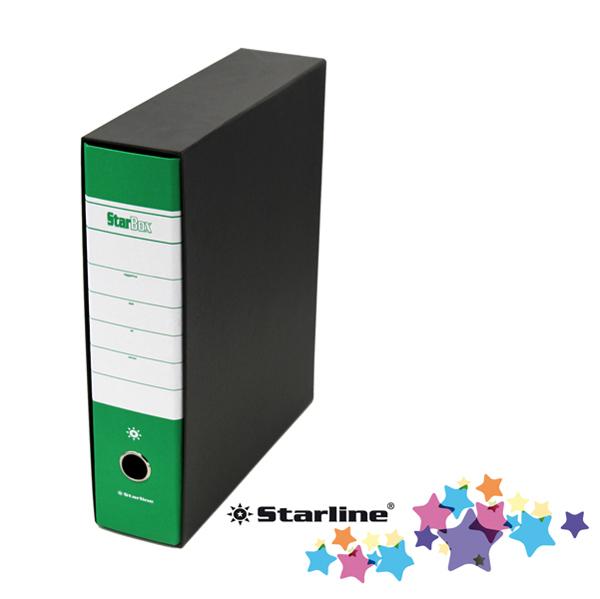 Registratore Starbox sfuso - dorso 8 cm - protocollo 23 x 33 cm - verde - Starline Foto prodotto