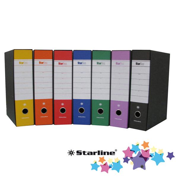 Registratore Starbox sfuso - dorso 8 cm - protocollo 23 x 33 cm - arancio - Starline Foto prodotto