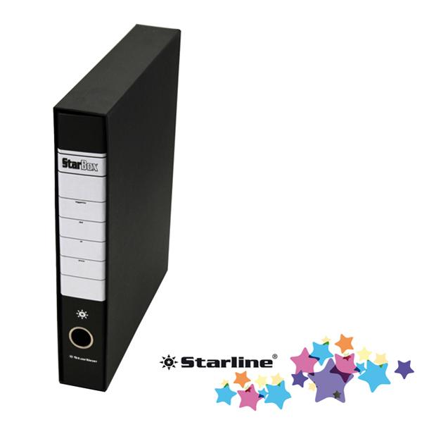 Registratore Starbox sfuso - dorso 5 cm - protocollo 23 x 33 cm - nero - Starline Foto prodotto