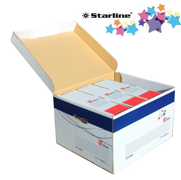 scatola archivio ST – box cartone riciclato con coperchio - 37,5 x 26,5 x 43 cm - bianco - Starline Foto prodotto