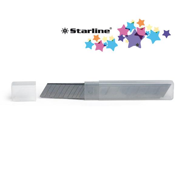 Lame di ricambio - 18 mm - universali - per cutter - blister 10 lame - Starline Foto prodotto