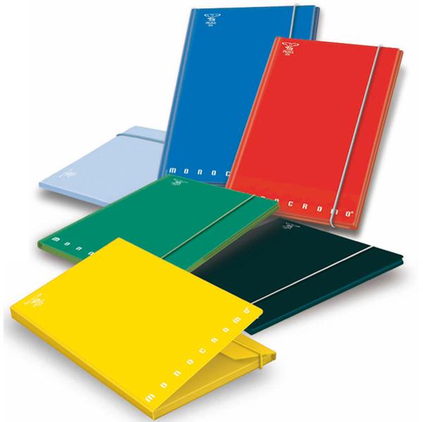 Cartellina con elastico Monocromo - cartone - 3 lembi - dorso 1,2 cm - 26x34 cm - col. assortiti - Pigna Foto prodotto
