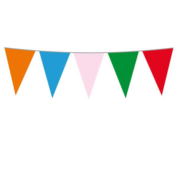 Festone bandiere Multicolor - 10 mt - plastica - Big Party Foto prodotto